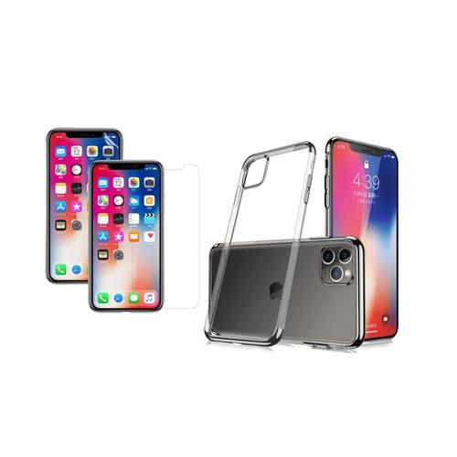 Transparentes Case: iPhone X-XS/ Rot