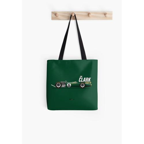 Jim Clark - Lotus 49 Drucken (schneller Text) Tasche