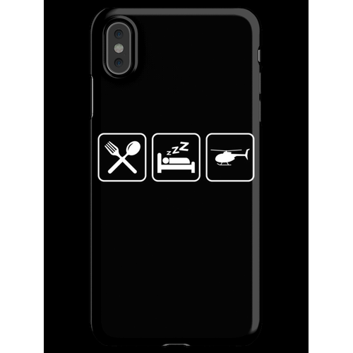 Helicopter - Eat, Sleep, Fly Helicopter iPhone XS Max Handyhülle