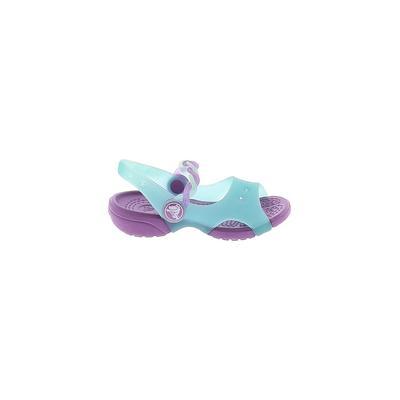 Crocs Sandals: Blue Solid Shoes - Size 5