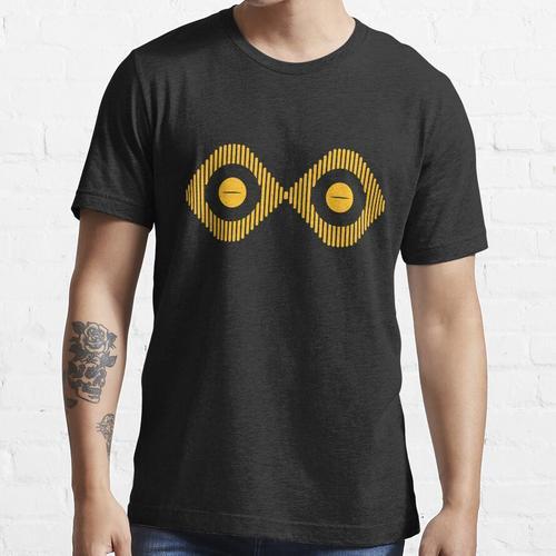 gelbe Linien mit gelben Froschaugen Essential T-Shirt