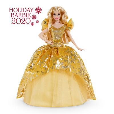 2020 Holiday Barbie Doll, Blonde Long Hair - Mattel MTGNR92
