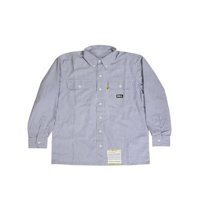 Berne FRSH21T Men's Tall Flame-Resistant Down Plaid Work Shirt in Navy Blue size 2XT   Twill
