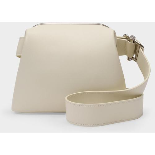OSOI Mini Tasche Brot aus beigefarbenem Leder