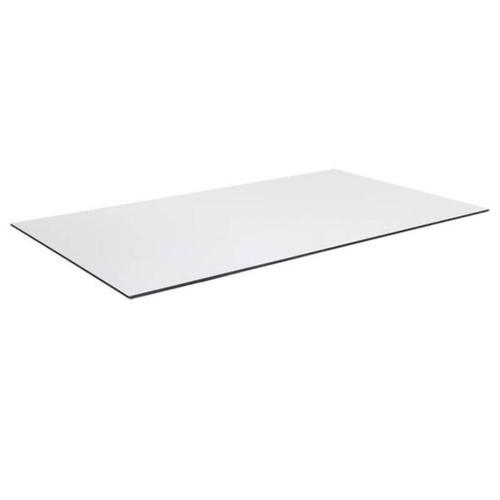 Tischplatte compact Laminat 120x70cm weiß Dünn Outdoor Hotel wetterfest Esstisch Bistrotisch Terrassentisch
