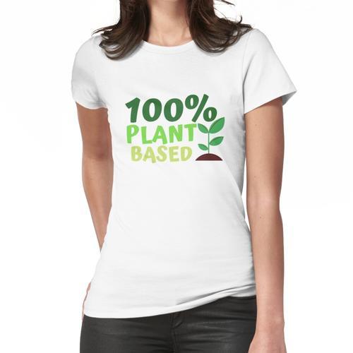 100% pflanzlicher, pflanzlicher Liebhaber, pflanzliches Leben Frauen T-Shirt
