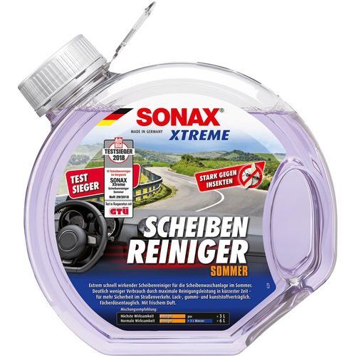 Sonax Autopolitur Scheiben-Reiniger Sommer Xtreme, 3,0 l farblos Autopflege Autozubehör Reifen