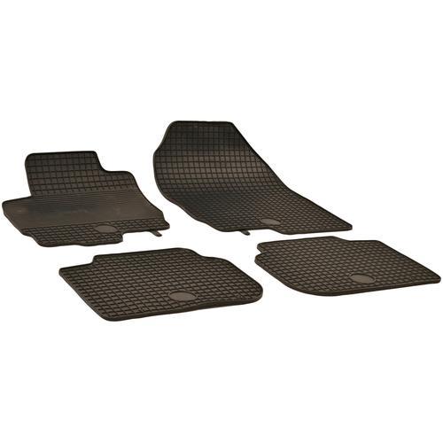 Walser Passform-Fußmatten, Mitsubishi, Colt, Schrägheck, (4 St., 2 Vordermatten, Rückmatten), für Mitsubishi Colt BJ 2004 - 2009, 2009 heute schwarz Automatten Autozubehör Reifen Passform-Fußmatten