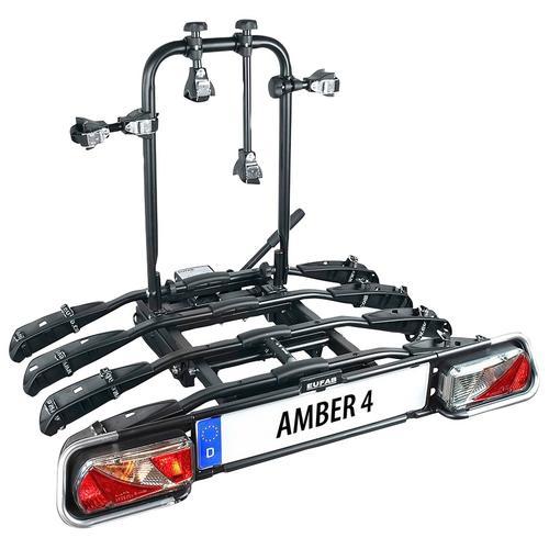 EUFAB Kupplungsfahrradträger AMBER 4 schwarz Fahrradträger Autozubehör Reifen