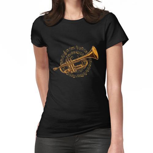 Trompete Trompeter Noten - Trompetenspieler Musiker Frauen T-Shirt