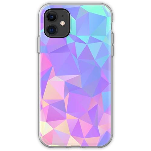 Kristallstruktur Low Poly Pattern Design Flexible Hülle für iPhone 11