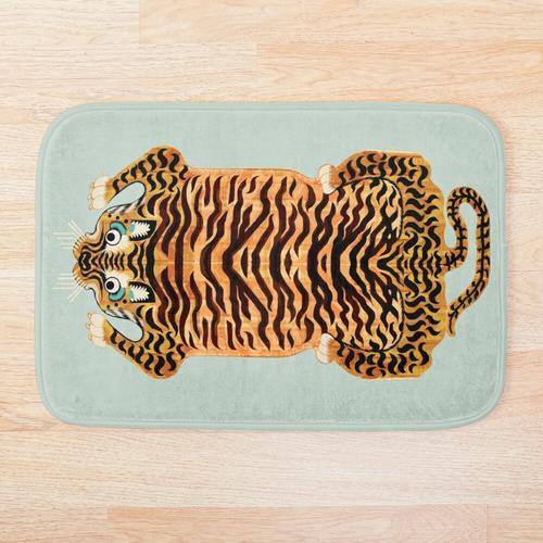 Goldener tibetischer Tiger-Teppich Badematte