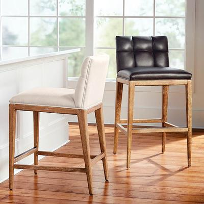"""Gramercy Bar & Counter Stool in Sandstone - Sunbrella Pique Rust Counter Height, Performance, 26-3/4"""" Counter Height, Special Order - Frontgate"""