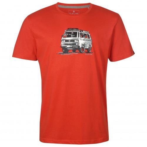 Elkline - Gassenhauer - T-Shirt Gr M rot