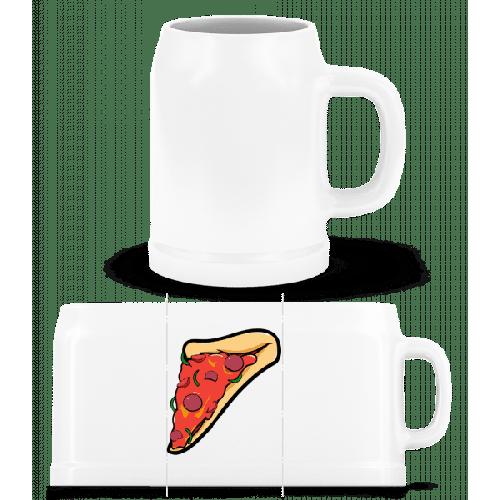 Pizzastück - Bierkrug