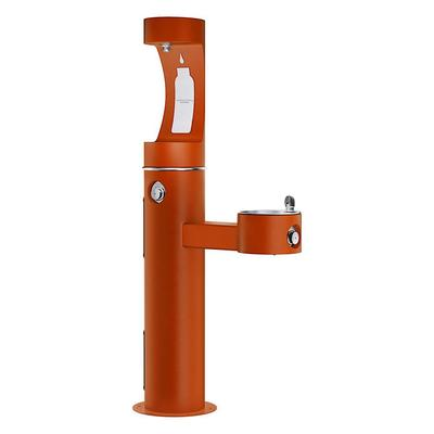 Elkay 4420BF1UTER Outdoor Bottle Filling Station & Drinking Fountain - Non Refrigerated, Terracotta