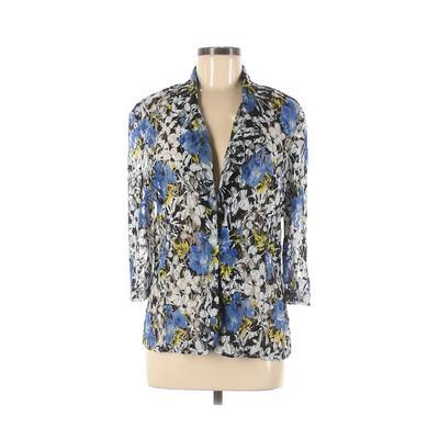Blair Kimono: Blue Floral Tops - Size Medium