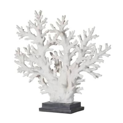 THE BROWNHOUSE INTERIORS - Large Resin Faux Coral Tree On Stand - resin   white - White/White