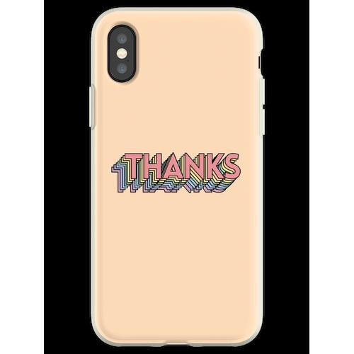 Danke Danke Danke Danke Danke Flexible Hülle für iPhone XS