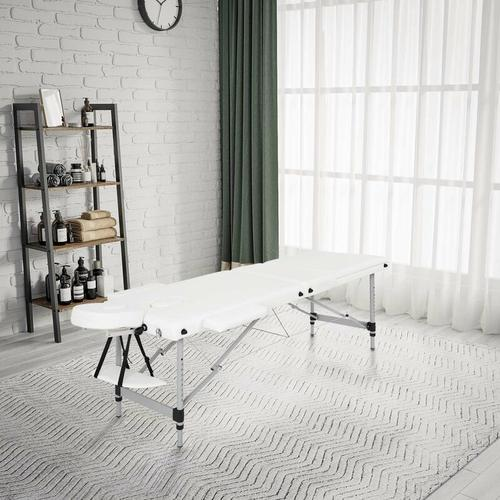 mobile Massageliege, klappbare Therapieliege, tragbares Massagebett, Massagebank, leichter