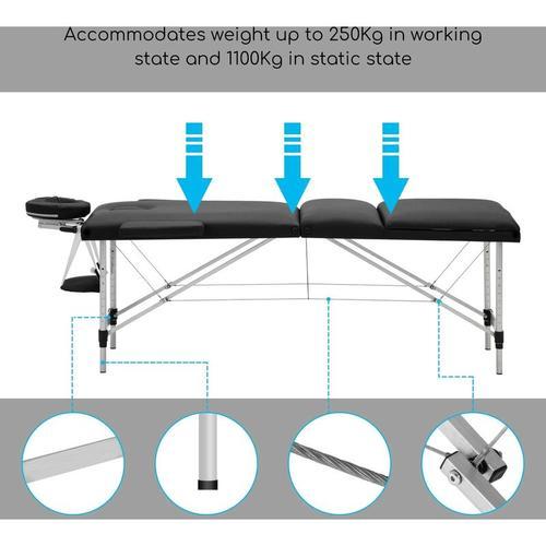 mobile Massageliege, klappbare Kosmetikliege Therapieliege, tragbares Massagebett, Massagebank,