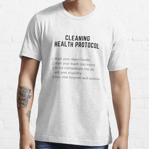 Gesundheitsprotokoll reinigen    Angriff auf das Reinigungsprotokoll von Titan Lev Essential T-Shirt