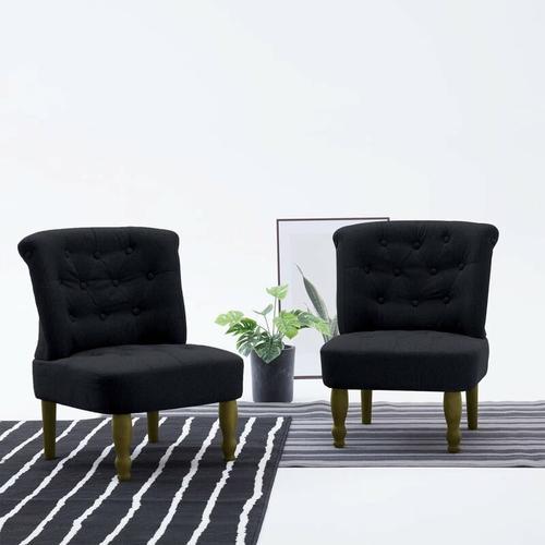 YOUTHUP Französischer Stuhl Schwarz Stoff