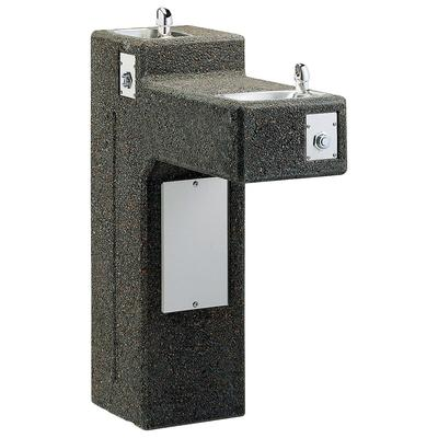 Elkay LK4595 Outdoor Bi Level Pedestal Drinking Fountain - Non Refrigerated, Non Filtered