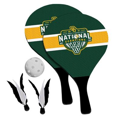 Baylor Bears 2021 NCAA Men's Basketball National Champions 2-in-1 Birdie Pickleball Paddle Game