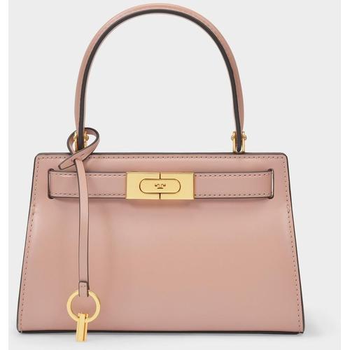 Tory Burch Kleine Tasche Lee Radziwill aus rosafarbenem Leder