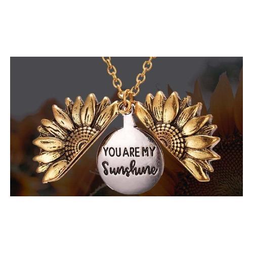 Halskette mit Sonnenblumen-Anhänger: Silber / 1