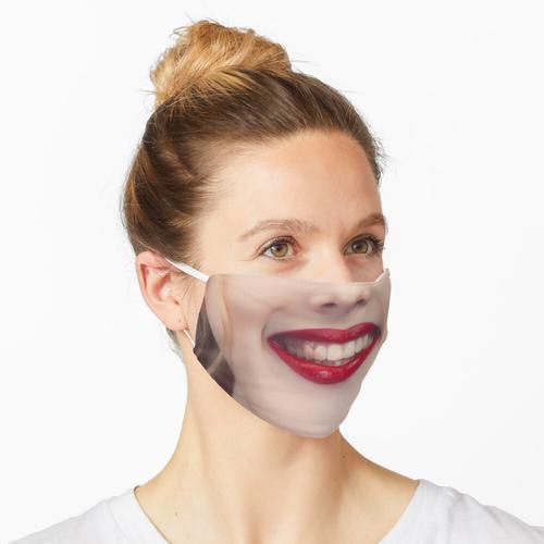 Verschmierter Lippenstift und trotzdem Gut drauf! Maske