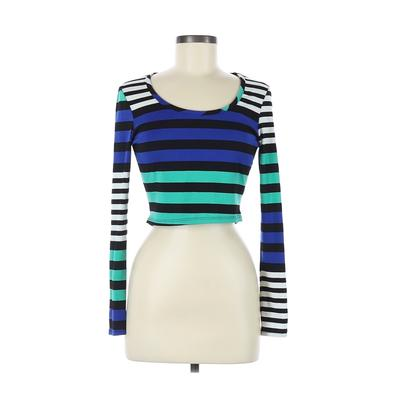 Teen Vogue Long Sleeve T-Shirt: Black Print Tops - Size Medium
