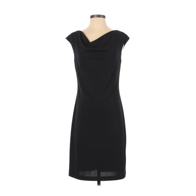 ABS Evening by Allen Schwartz Casual Dress - Party: Black Solid Dresses - Used - Size Small