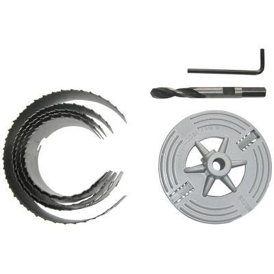 Connex Lochsäge 60 - 95mm, für Rohrdurchführungen, Ventilationsinstallationen und Hohllochbohrungen silberfarben Sägen Werkzeug Maschinen