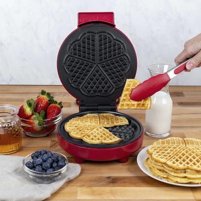 Kalorik Heart-Shaped Waffle Maker, Red by Kalorik in Red