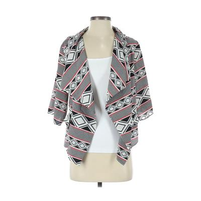 Aryn K. Kimono: Black Print Tops - Size Small
