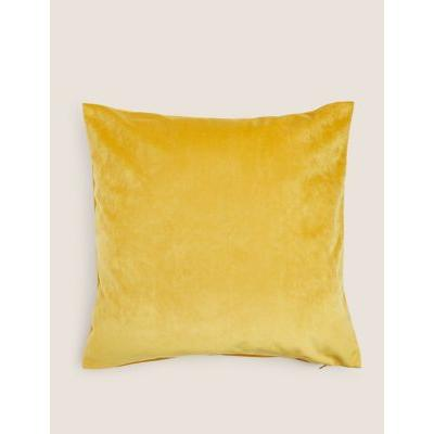 Marks & Spencer Velvet Cushion Cover - Ochre - One Size