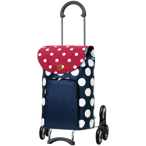 Andersen Shopper Treppensteiger Scala Shopper Dots Einkaufstrolley 57 cm blau