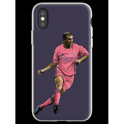 Zidane mit Madrid-Trikot 2020-2021 Flexible Hülle für iPhone XS