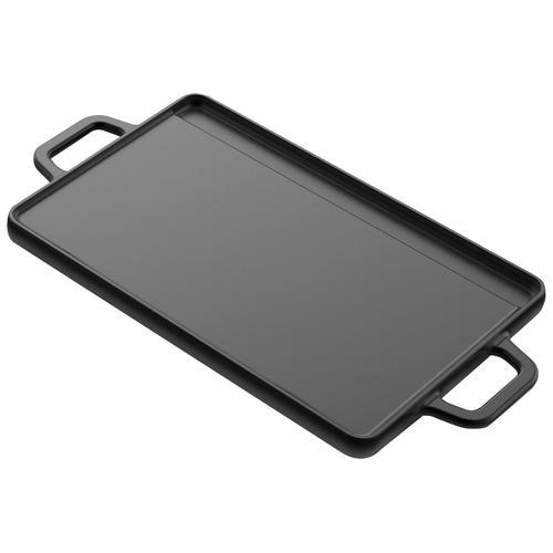 Tepro Grillplatte, Gusseisen, Universal, 20 x 30 cm schwarz Zubehör für Grills Garten Balkon Grillplatte