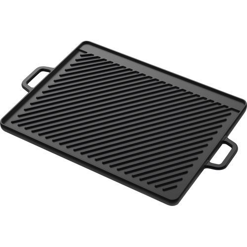 Tepro Grillplatte, Gusseisen, (1 St.), BxT: 46x30 cm schwarz Zubehör für Grills Garten Balkon Grillplatte