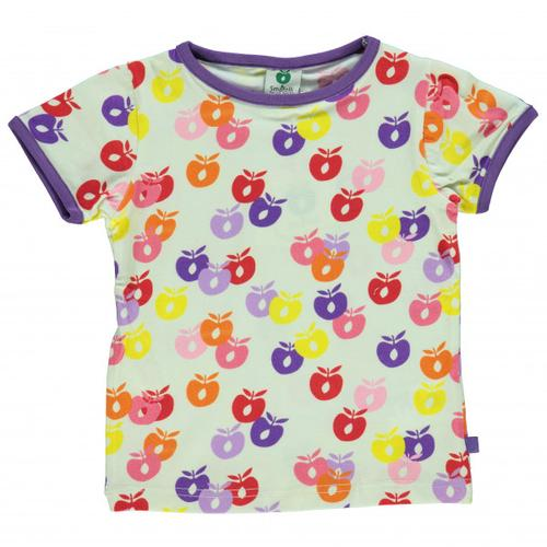Smafolk - Kid's T-Shirt S/S Apple Gr 5-6 Years weiß
