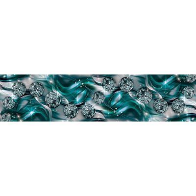 Consalnet Vliestapete Diamant Abstraktion, verschiedene Motivgrößen, für die Küche silberfarben Vliestapeten Tapeten Bauen Renovieren
