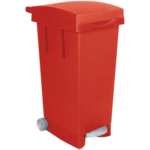 Mülleimer, BxTxH 370 x 510 790 mm, Inhalt 80 Liter, rot Mülleimer Küche Ordnung