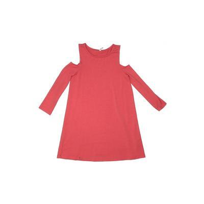 Fab Kids Dress - Shift: Orange Solid Skirts & Dresses - Used - Size Medium