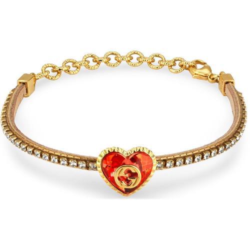 Gucci Armband mit Kristallherz und GG