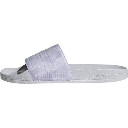ADIDAS Damen Adilette Shower Adilette, Größe 43 ⅓ in Silber