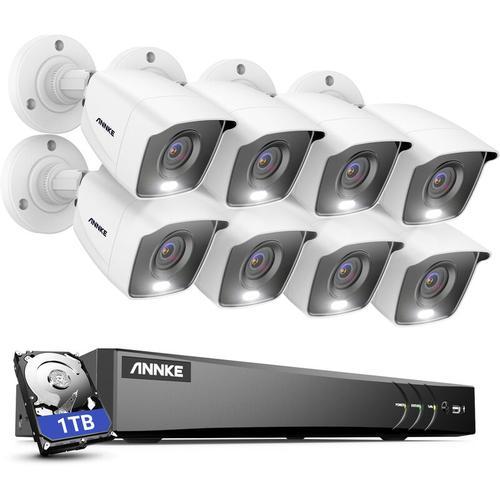 ANNKE 4K Ultra HD DVR-Überwachungskamerasystem mit 24/7 Vollfarb-Nachtsicht-CCTV-Überwachung im