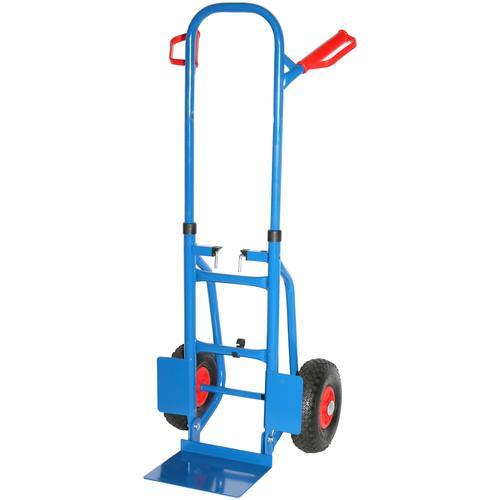 SZ METALL Sackkarre, 120x50x53 cm, 250 kg, faltbar blau Sackkarren Transport Werkzeug Maschinen Sackkarre